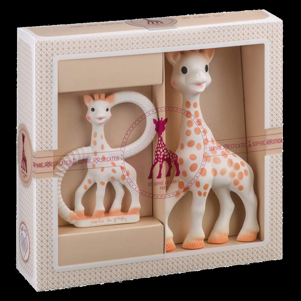 Idées de cadeaux pour une naissance Sophie la girafe