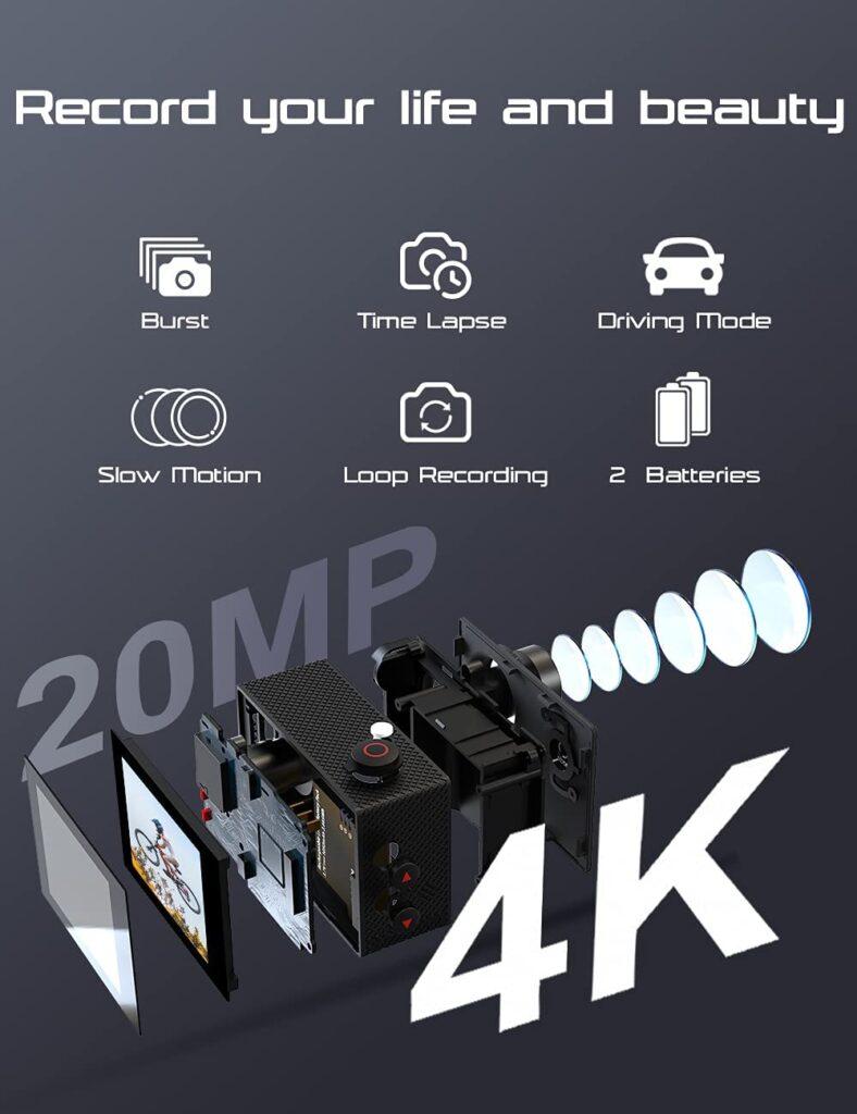 Caméra action Apexcam 4K - www.heavybull.com